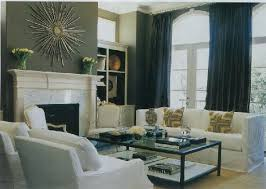 black curtains transitional living room