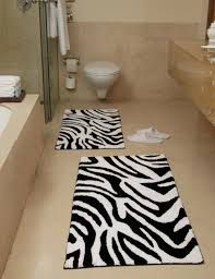 Black And White Bathroom Rug by Black And White Kilim Rug Eclectic Bathroom Park Avenue Bathok