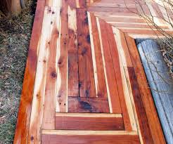 Recycled Wood by How To Build An Awesome Sidewalk With Recycled Lumber For Only