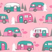 retro campers fabric wallpaper u0026 gift wrap spoonflower