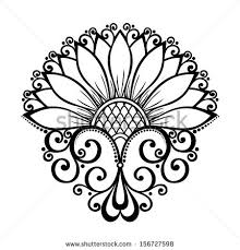 decorative flower beautiful decorative flower vector patterned design stock vector