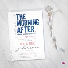 wedding brunch invitations wording the morning after wedding brunch invitation digital file