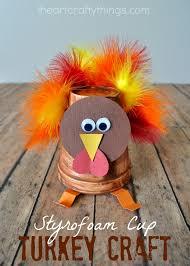 thanksgiving cups styrofoam cup turkey craft for kids turkey craft thanksgiving