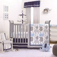 Navy Blue And Gray Bedding The Peanut Shell 4 Piece Baby Boy Crib Bedding Set Little Peanut