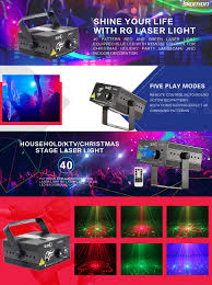 Christmas Lights Projector by Amazon Com Laser Light Red Green 40 Patterns Led Projector Dj