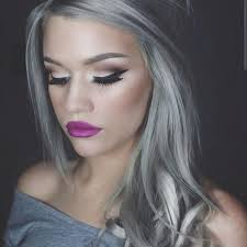 hairstyles for young women with gray hair new gray hair trend 2015 granny hair trend young women are