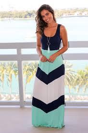 chevron maxi dress navy and mint chevron maxi dress dresses saved by the dress