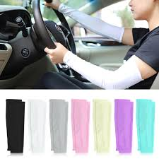 1 pair cooling arm sleeve cover sun protection sport workout