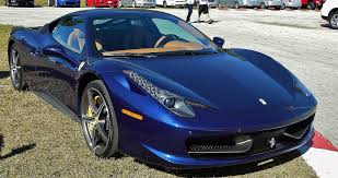 blue ferrari spectacular cars in lisa blue
