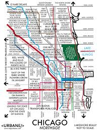 Chicago Neighborhood Map Poster by Chicago Northside Neighborhood Map Afputra Com