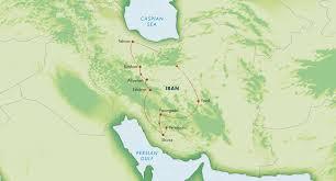 Persia Map Iran Wonders Of Persia November 2015 Zegrahm Expeditions