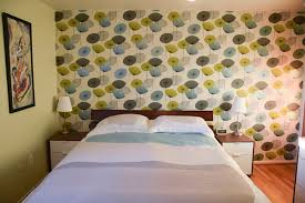 Midcentury Modern Wallpaper - one accent wall of wallpaper transforms rebecca and keith u0027s