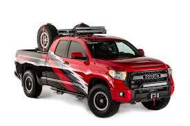 widebody tundra sema bound toyota ft 1 concept trd pro trucks camry nascar racer