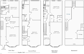 row house duplex floor plan enormo simple search building plans