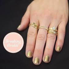 stackable engagement rings how team zoe wears their engagement rings