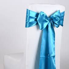 turquoise chair sashes satin chair sash turquoise pack of 10 6 inches x 106