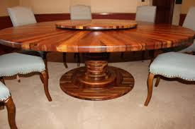 Dining Room Table With Lazy Susan by Custom Made Mixed Exotic Pedestal Dining Table With Lazy Susan By