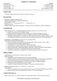 Sample Objective Of Resume by College Intern Resume Samples As College Student Has No Experience