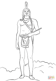 chief massasoit coloring page free printable coloring pages