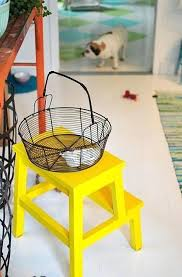 home interiors candle holders creative ikea bekvam ideas images yellow painted stool i need this