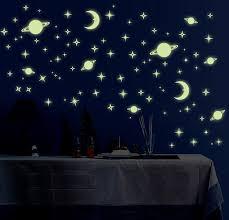 amazon in kid s room decor home kitchen jaamso royals galaxy of stars radium glow in the dark wall sticker vinyl 32 cm x 24 cm x 0 5 cm y0036
