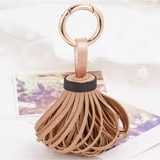 fashion key rings images Leather tassel keychains fashion key chain ring women handbag jpg