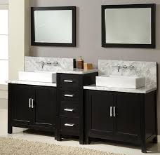 bathroom lowes sink vanity with backsplash and wall mount faucet