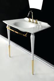 art deco bathroom vanities mirror with light bath shelf