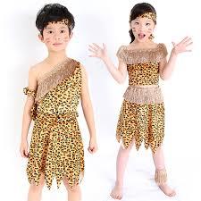 Flinstone Halloween Costume Aliexpress Buy Children Savage Caveman Costumes Boy Leopard