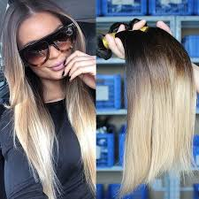 ombre extensions cheap ombre hair extensions three tone 1b 4 27 malaysian
