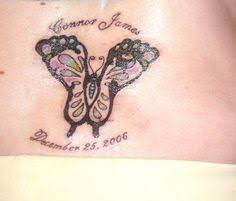 butterfly tattoo with baby footprint baby feet butterfly abstract tattoos design idea for men and women