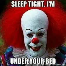 Sleep Meme - it clown sleep meme introvert spring