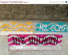 Custom Desk Name Plates by Personalized Teacher Gift Acrylic Desk Name Plate Shops Gifts