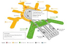O Hare Map Terminal Terminal Map Map Of The International Terminal At San Francisco Sfo
