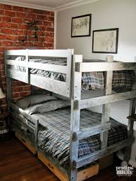 The Brick Bunk Beds Boys Room Reveal Vintage Industrial Style Prodigal Pieces