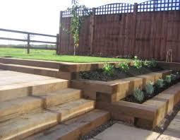 Garden Sleeper Ideas Bill Sweet S Railway Sleeper Landscaping Landscaping Pinterest