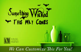 halloween bat wall decals something wicked this way comes halloween vinyl lettering decal