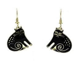 laurel burch earrings laurel burch black keshire cat earrings