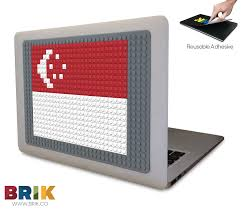 Singapore Flag Button Flag Of Singapore Pixel Art U2013 Brik