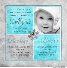 photo winter birthday baptism invitation baptism invitations
