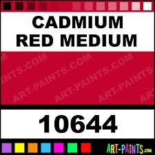 cadmium red medium artist oil paints 10644 cadmium red medium