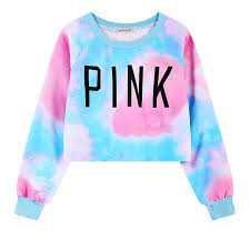 pink clothing new style harajuku women s sweatshirts colorful tie dye pink print