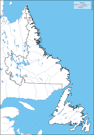Map Of Newfoundland Canada by Newfoundland And Labrador Free Map Free Blank Map Free Outline
