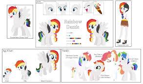 rainbow dazzle ref sheet by zafara1222 on deviantart