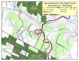 Nj Path Map Burnt Rossman Hills State Forest Map Nys Dept Of Environmental