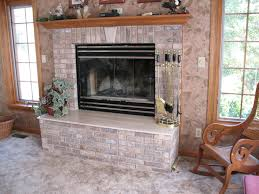 painted brick fireplace before and after pictures fireplace