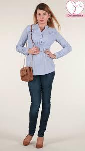 tehotenska moda těhotenské košile těhotenská a kojicí košile branco modrá vel
