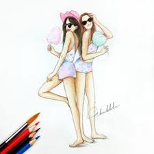 pineapple best friends forever pinterest drawings bff and
