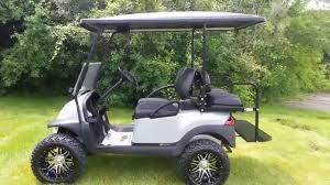 lifted gas club car precedent golf cart new metallic silver body
