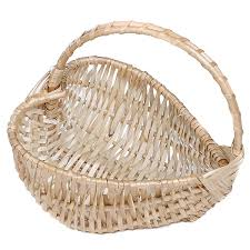 baskets for gifts heart shape wicker basket with handles set of 10 6 x 12 x 11 in